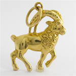 9ct yellow gold wild bighorn sheep/ram