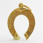9ct yellow gold horseshoe charm