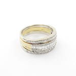 18ct yellow and gold multi diamond set three ring set