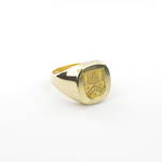 18ct yellow gold Gent's signet ring