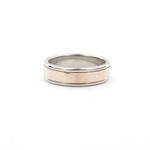 Gent's 18ct rose gold and platinum two tone band ring