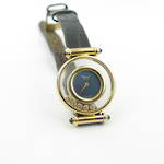Lady's 18ct yellow gold 'Chopard' diamond and sapphire set watch