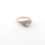 18ct yellow and white gold illusion style diamond set ring