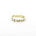 18ct yellow gold diamond channel set eternity ring