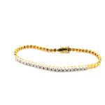 18ct yellow gold and rhodium diamond bracelet