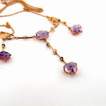 9ct yellow and rose gold Antique amethyst and seed pearl necklace