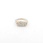 18ct yellow gold and platinum Art Deco diamond set ring