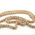 9ct yellow gold fancy link chain with barrel clasp