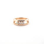 18ct rose gold floating channel set diamond ring