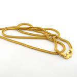 22ct yellow gold wheat link chain
