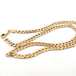 9ct yellow gold flat curb link necklace