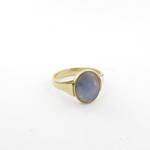 14ct yellow gold solid opal ring