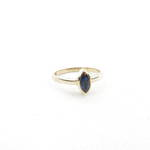 9ct yellow gold marquise style sapphire set ring