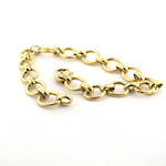 14ct yellow gold oval link bracelet