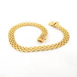 14ct yellow gold flat fancy link bracelet