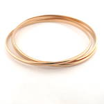 9ct yellow gold russian wedding style bangle