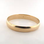 9ct yellow gold solid bangle