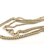 9ct yellow gold antique muff chain