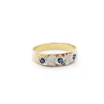 18ct yellow gold sapphire and diamond eternity ring