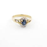 18ct yellow gold sapphire and diamond set ring