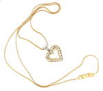 9ct yellow/white gold diamond heart pendant
