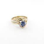 9ct yellow gold sapphire and diamond ring set