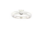 Lady's 18ct white gold diamond solitaire ring