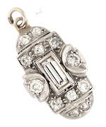 Art deco platinum diamond set pendant