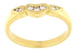 18ct yellow gold seven diamond set eternity ring