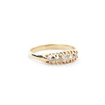 18ct yellow gold five diamond set vintage ring